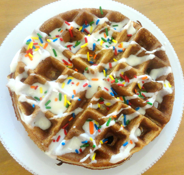 Birthday Cake Protein Pancakes Waffles